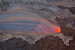The Newest Earth on New Year's — Hot Kona Lava Flows