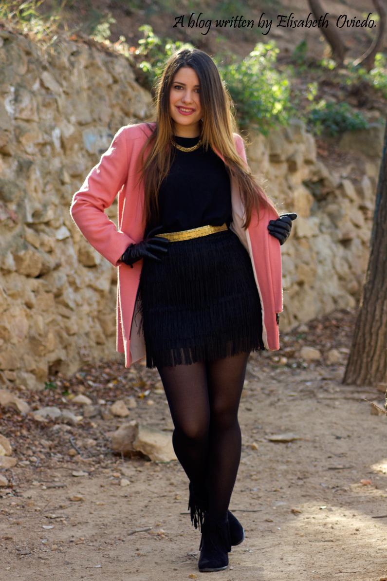 abrigo rosa ZARA falda bershka botines MARYPAZ HEELSANDROSES (2)