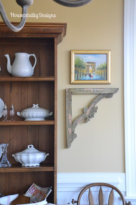 Dining Room Hutch/Vintage Brackets - Housepitality Designs
