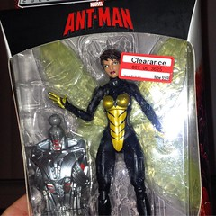 Found @marvel #wasp figure #lastnight @target on #clearance. Ive seen some #amazing #custom figures done with her. So Ive got me a few ideas what to do with her! :grin: from $19.99 to $5.98! #antman #antmanmovie #hasbro @hasbro