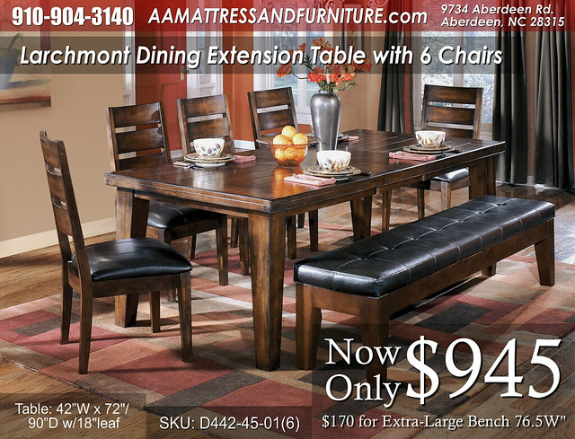Larchmont Table and 6 Chairs WM
