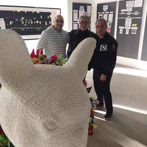 Great day at El Bulli Foundation with @escriba1906 and @ferran_adria .