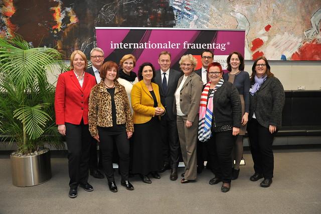 Empfang anlässich des Internationalen Frauentages am 17.02.2016