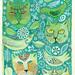 GreenCatsOnAqua by cate edwards