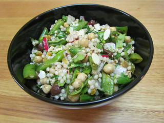 Couscous with Snap Peas and Za'Atar Dressing