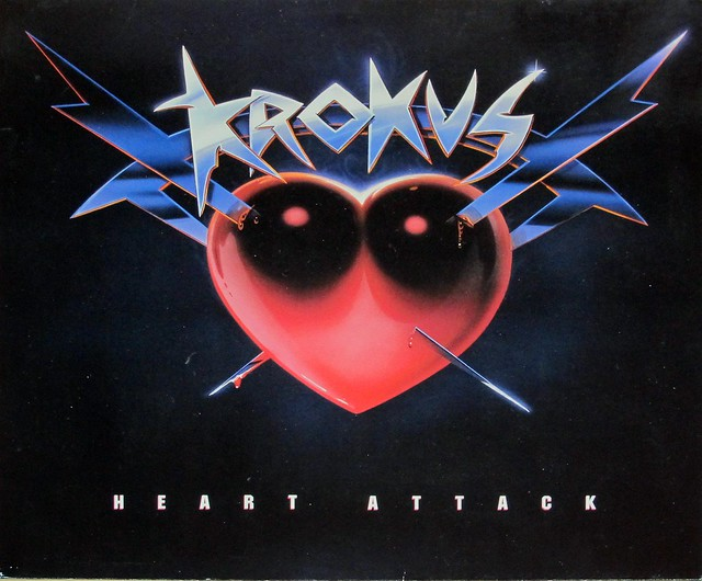 "KROKUS HEART ATTACK 12"" LP VINYL"