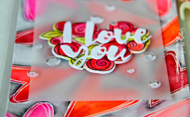 I love you card flat