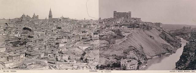 Panorama de Toledo en 1894 por Hauser y Menet
