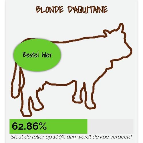 Dat ik toch elke dag stiekem ga kijken hoever het staat met de koe o deathrow. #deeleenkoe #grasgevoerdvlees