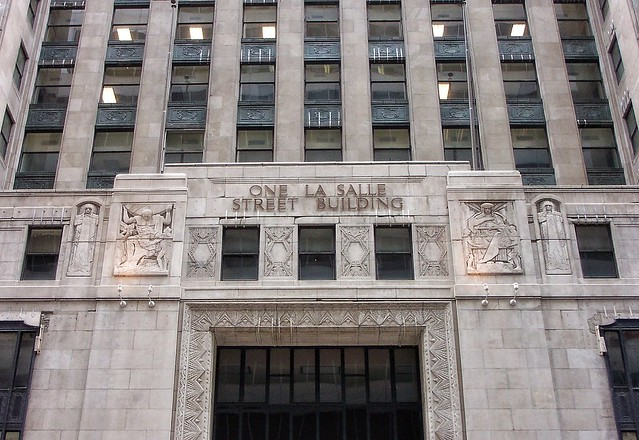 Chicago Illinois ~ One LaSalle Street Building ~  Facade