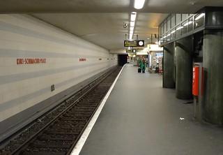 Image of Kurt Schumacher. berlin station germany underground subway deutschland metro ubahnhof ubahn öpnv bvg reinickendorf u6 kurtschumacherplatz