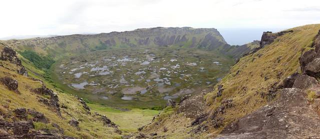 panoramique du volcan orongo