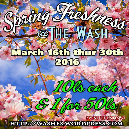 Spring Freshness Wash Sale March 2016 Poster ad
