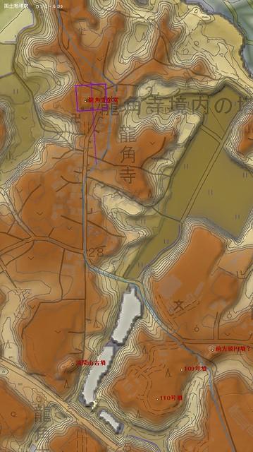 龍角寺周辺南北3D