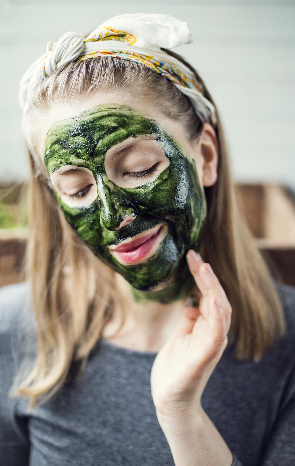 Ansiktsmask med Spirulina - Evelinas Ekologiska