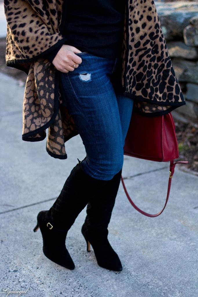 leopard poncho, black tee, black boots, red coach bag-6.jpg
