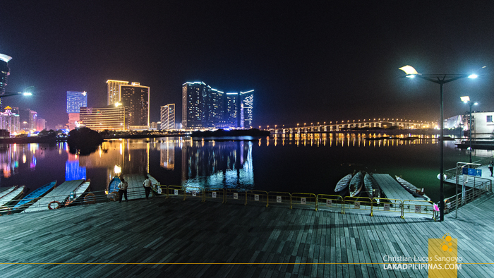 Macau Night Buildings