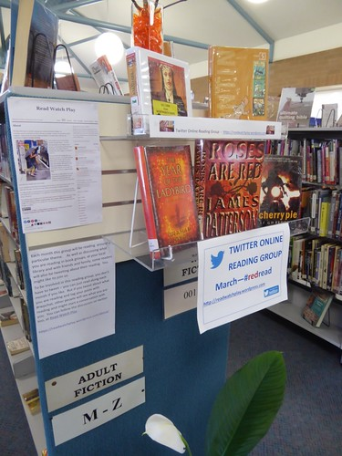 #redread promotion for #rwpchat in in Wentworth Library