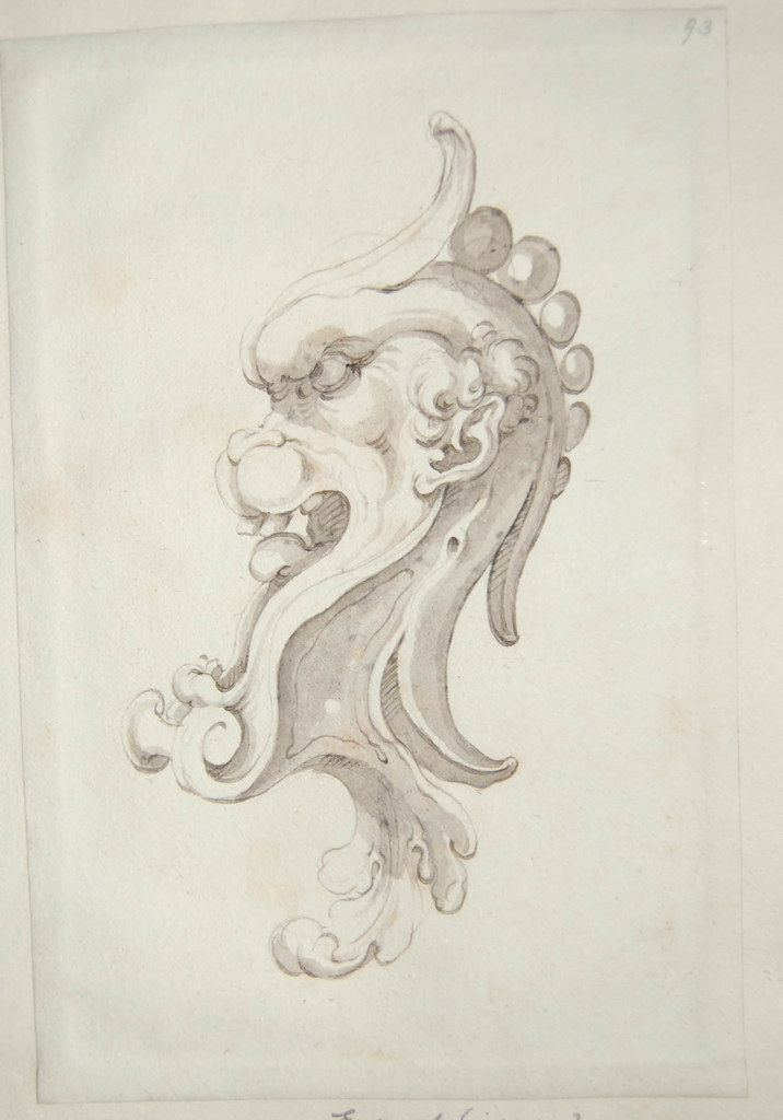 Arent van Bolten - Monster 93, from collection of 425 drawings, 1588-1633