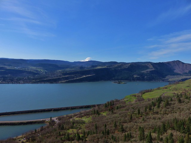 Mt. Hood across the Columbia River from Coyote Wall
