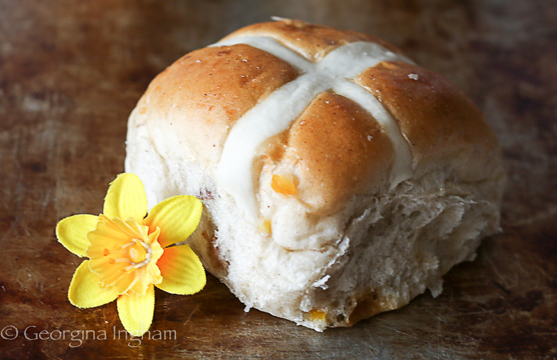 Georgina Ingham | Culinary Travels Photograph - Traditional Hot Cross Buns