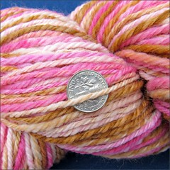 Sweet Heat handspun, close up