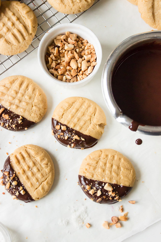 Chocolate covered PB Cookies