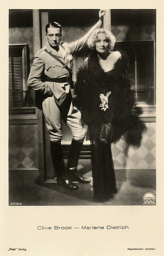 Marlene Dietrich and Clive Brook in Shanghai Express (1932)