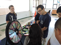 Maui Electric at the Valley Isle Keiki Fest -  April 9, 2016: The prize wheel at the Valley Isle Keiki Fest