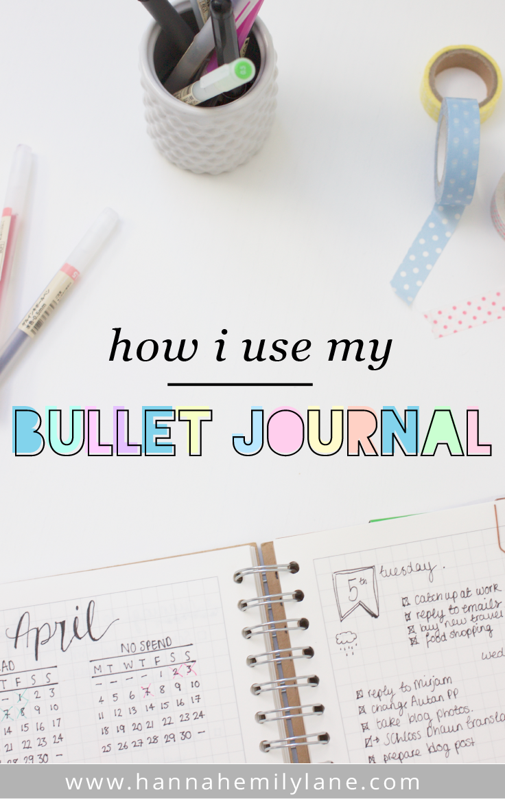 How I use my bullet journal 1 month on | www.hannahemilylane.com - A student lifestyle blog