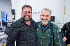 Peter DuBois and playwright and director Craig Lucas