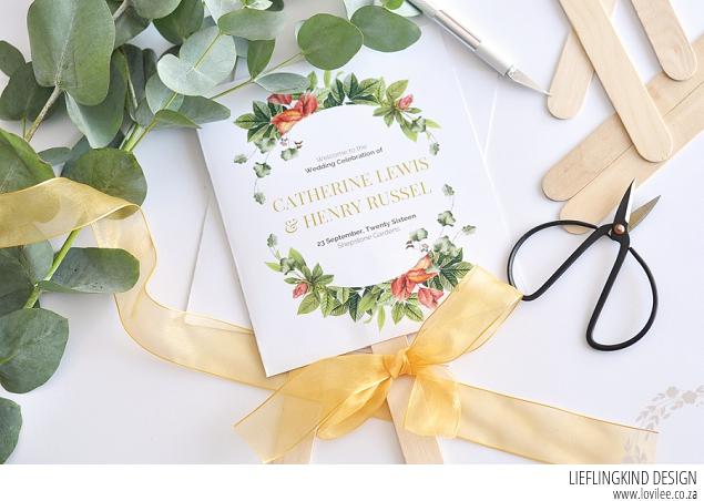 Paddle Fan Diy Wedding Program And Printable