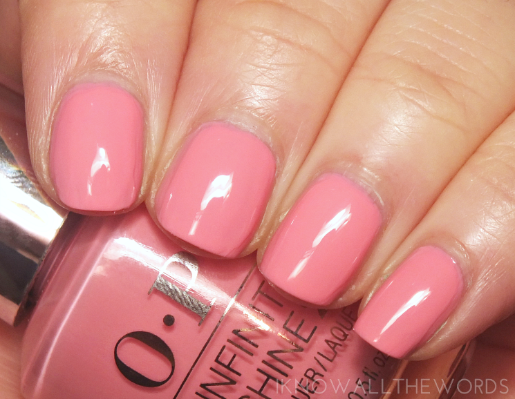 OPI Infinite Shine Rose Against Time
