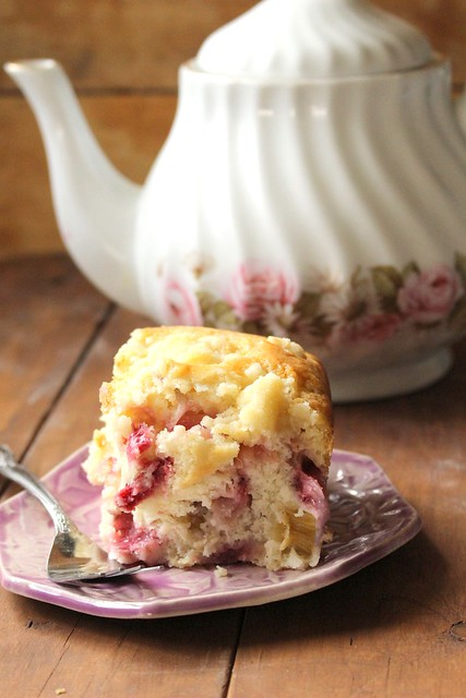 Astoundingly Moist Strawberry Rhubarb Cake