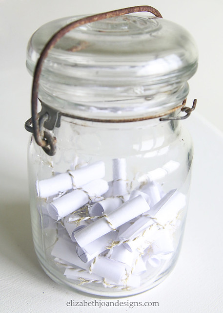 Tiny Scrolls in a Glass Jar