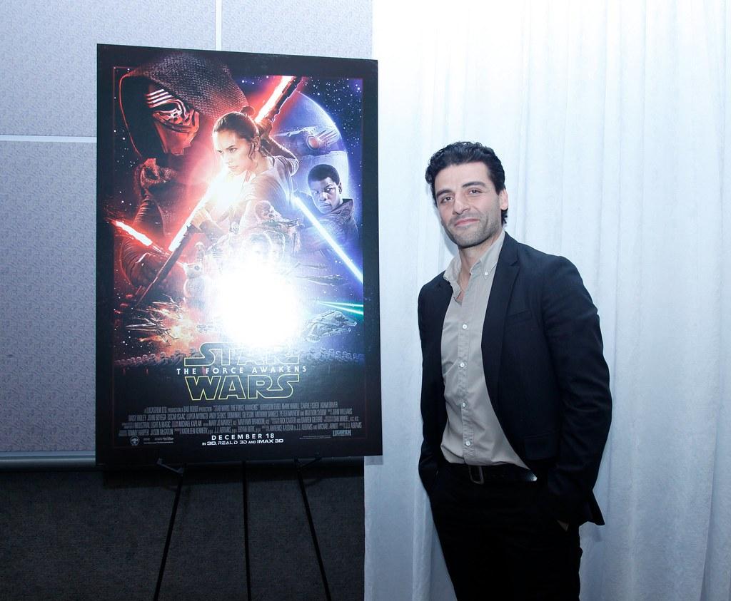 Оскар Айзек — Пресс-конференция «Звёздные войны» 2015 – 20