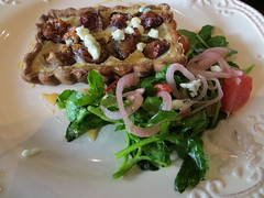 Fig & red onion tart
