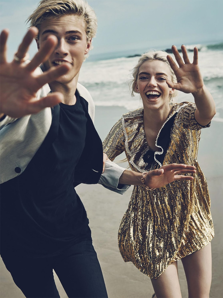 Lucky Blue Smith, Pyper America, Daisy Clementine and Starlie Cheyenne Smith by Beau Grealy for Us Marie Claire January 2016