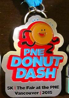 PNE Donut Dash 2015 medal