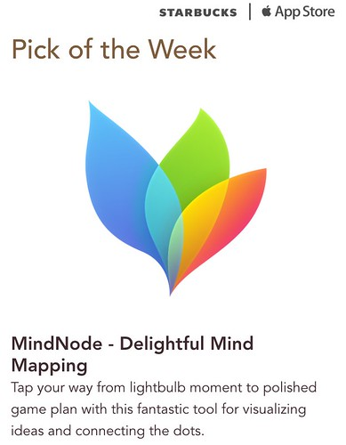 Starbucks iTunes Pick of the Week - MindNode - Delightful Mind Mapping