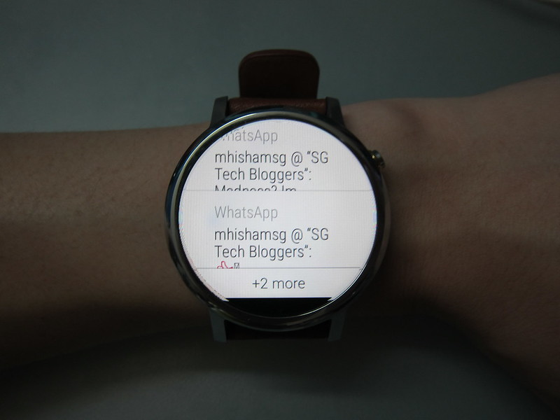 Moto 360 (2nd Gen) - Notifications Consolidation