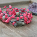 Pink Coral and Labradorite Crocheted Bracelet Wrap