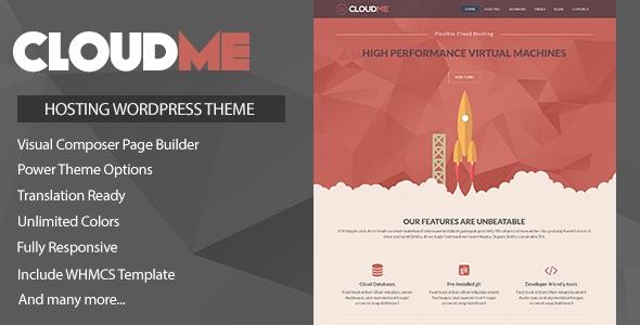 Themeforest Cloudme Host v1.0.2 - WordPress Hosting Theme + WHMCS