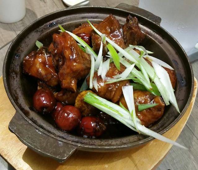 2016-Feb-7 Dinesty (Metrotown) - Simmer Chicken & Chestnuts in Brown Sauce