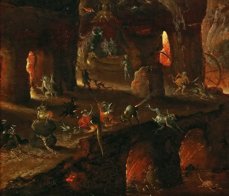 Roelant Savery - Orpheus in the Underworld, 1610-5 (detail 1)