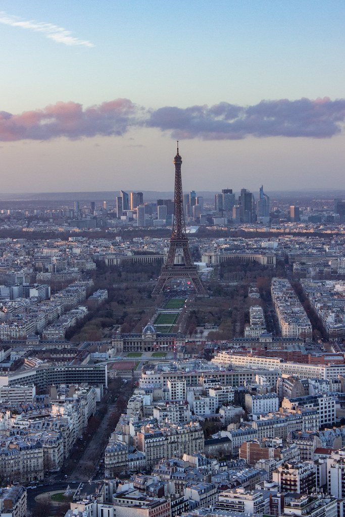 View of the Eiffel Tower from Tour Montparnasse