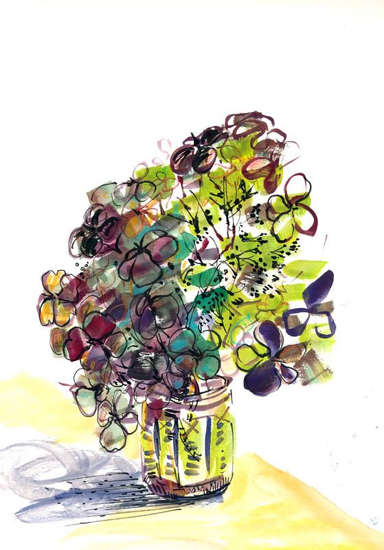 Sketchbook #94: Dry Hydrangea