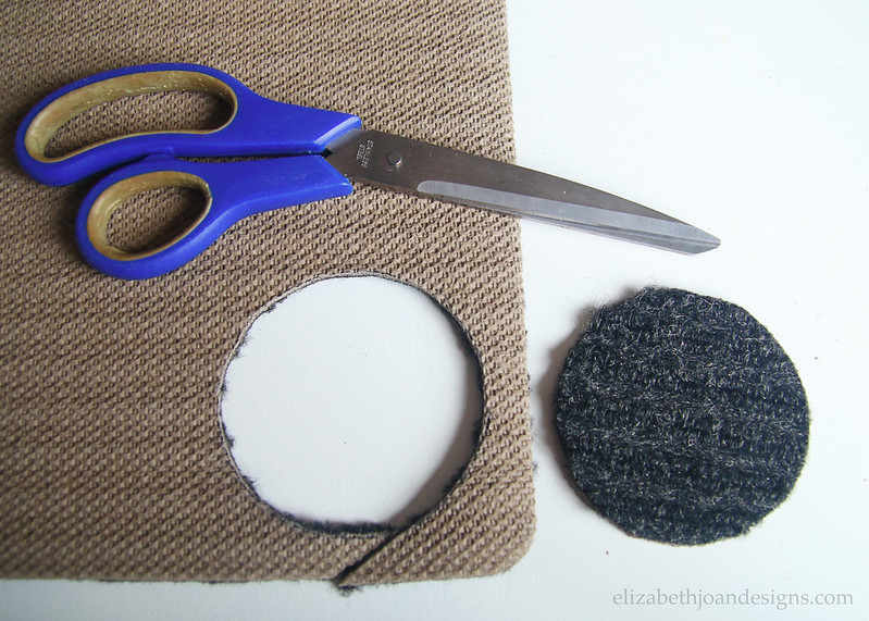 Cut Carpet With Scissors for coasters