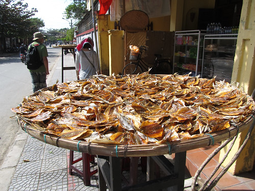 Hoi An: poissons sèchant dans la rue