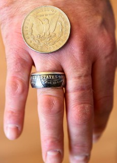 Morgan dollar coin ring